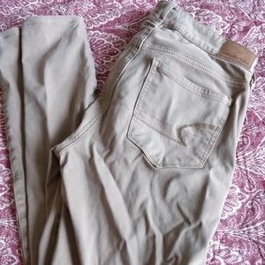 AE Demin High Waisted Jegging Size 0 Short